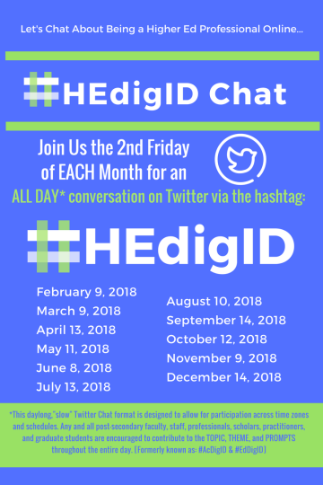 #HEdigID Twitter Chat