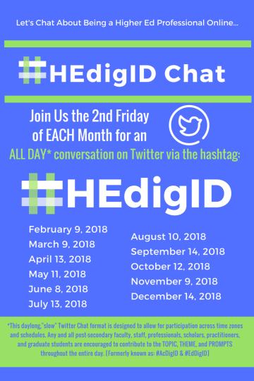 #HEdigID Twitter Chat
